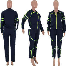 Casual Tracksuits Zipper Long Sleeve 2 Piece Sets CQ-5292