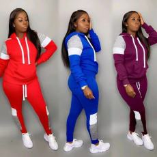 Casual Tracksuit Hoodies Long Pants Two Piece Sets OD-8326