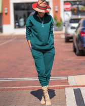 Solid Long Sleeve Casual Sporty Two Piece Sets TR-991