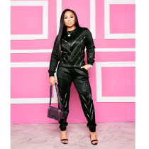 Casual Hot Drilling Long Sleeves Two Piece Sets AL-152