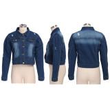 Casual Long Sleeves Short Denim Jacket Coats SMR-9513