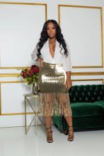 Sexy Sequin Tassel High Waist Bodycon Midi Skirt PIN-8485