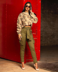 Casual Trousers High Waist Long Pencil Pants LA-3165