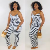 Sexy Stripe Spaghetti Strap One Piece Jumpsuits LM-8119