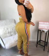 Sexy Striped Strapless Off Shoulder Jumpsuits JH-047