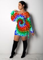Tie-Dye Printed Mini Dress MTY-6291