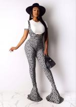 Sexy fashion suspender flared pants suit HMS-5277