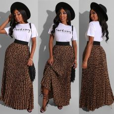 Leopard Print Skirt Two-piece AIL-070
