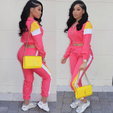 Casual Tracksuit Zipper Long Sleeve 2 Piece Sets LSD-8274
