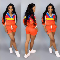 Casual Tracksuit Hooded Two Piece Shorts Set LSD-8292