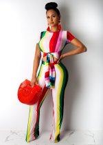 Fashion Sexy Striped Print Jumpsuit ML-7223