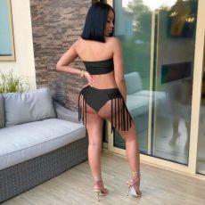 Sexy Tassel Bandeau Bikinis Bathing Sets OM-1105