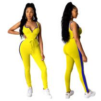 Bodysuit + Trousers Sports Two-Piece Suit TE-3937