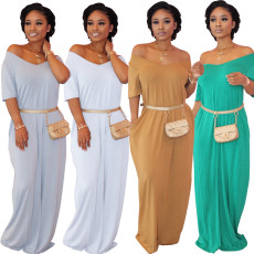 Solid Casual Loose Long Maxi Dress SFY-114