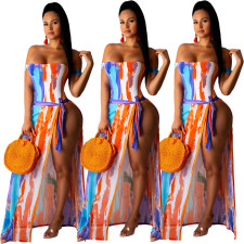 Sexy Fashion Printed One-Piece Swimsuit+Cloak YIY-5055
