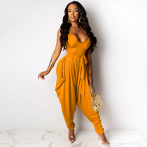 Sexy Halter Backless Loose Harem Jumpsuits YIY-5131
