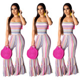 Sexy Suspender Flared Jumpsuit SHD-9109