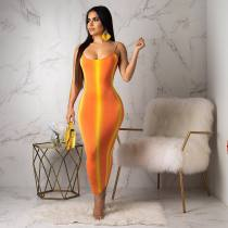Sexy Halter Backless Slim Maxi Dress SHA-6058