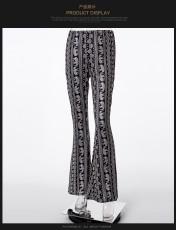 Bohemia Printed High Wiast Flares Pants YF-9016
