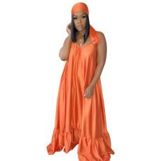Sexy Silk Satin Spaghetti Strap Long Maxi Dress SFY-003-1