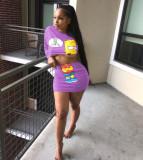 2Pcs Crop Top Mini Pencil Skirt Sets MTY-667-1