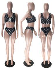 Polka Dot Print Swimsuit Sexy Bikini Sets MX-10875