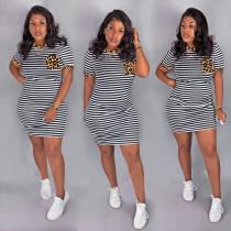 Leopard Splice Pocket Mini Dress MIL-L095