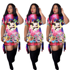 Fashion Print Cartoon Mini Dress MDF-5126