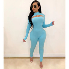 Nightclub Sexy Jumpsuit + Pullover Two Piece Set OSM-4113