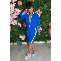 Casual Tracksuit Long Sleeve Two Piece Shorts Set IV-8088