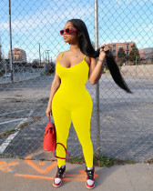 Plus Size Sexy Tight Suspenders Solid Color Jumpsuits HMS-5316