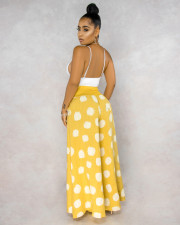Casual Polka Dot Print Wide Leg Long Pants BS-1193