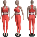 Sexy Tank Top And Pants Fitness 2 Piece Pants Set BGN-080