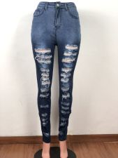 Personalized Street Trend Casual Ripped Jeans OSM-5323