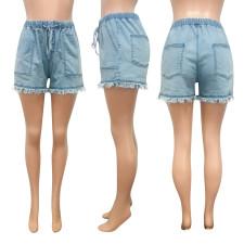 Casual Loose Mid Waist Denim Jeans Shorts NIK-138