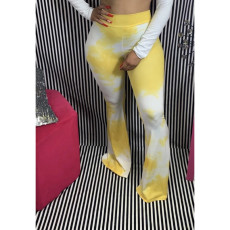 Tie Dye High Waist Boot Cut Long Pants WAF-7014