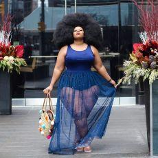 Plus Size 5XL Pearls Mesh Sleeveless Maxi Dress WAF-7016