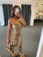 Sexy Leopard Print Spaghetti Strap Club Dress JH-174