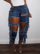 Fashion Personality Ripped Hole Jeans LX-6011