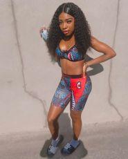 Cartoon Sports Casual Fitness Shorts Set LSL-8048