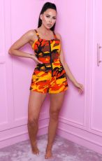 Casual Camo Print Strap One Piece Rompers WZ-8287