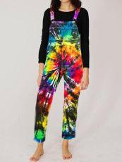 Plus Size Fashion Print Tie-dye Jumpsuit Overalls RSN-763