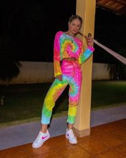 Tie-dye Printing Fashion Casual Two Piece Suit YSU-8027