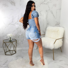 Sexy Denim Ripped Hole Skinny Jeans Shorts HSF-2300