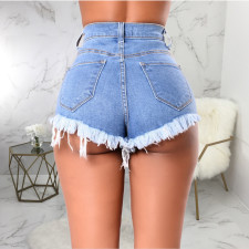 Sexy Denim Ripped Hole Sinny Jeans Shorts HSF-2309