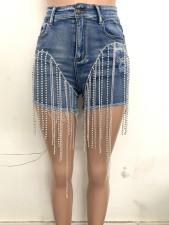 Sexy Denim Tassel Skinny Jeans Shorts LSD-6007