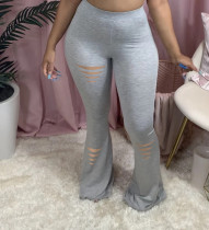 Sexy Casual Simple Solid Color Skinny Flared Pants YD-8273