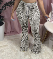 Plus Size Sexy Casual Print Slim Big Flared Trousers MX-1136