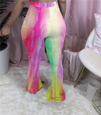 Trendy Printed Skinny Long Flared Pants NIK-158