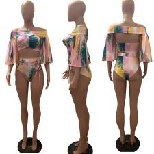 Tie Dye Print Sexy Two Piece Bikinis Sets RSN-771